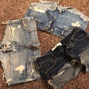26/27 Hollister shorts bundle